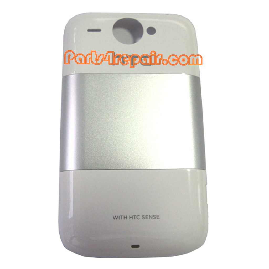 HTC Wildfire Back Cover -White from www.parts4repair.com