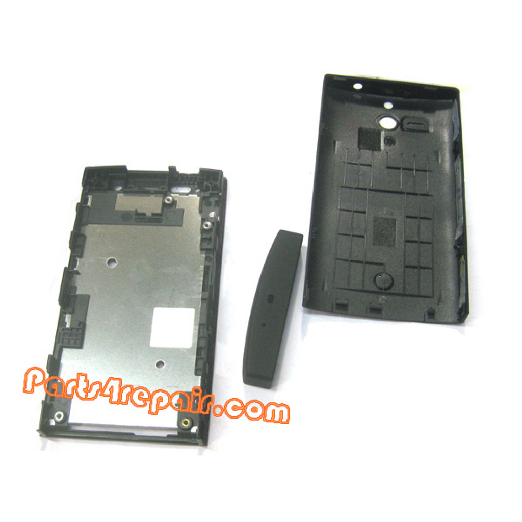 Full Housing Cover for Sony Xperia U -Black