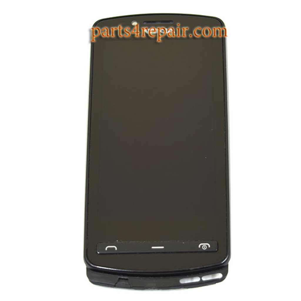 Nokia 700 Complete Screen Assembly with Bezel -Black from www.parts4repair.com