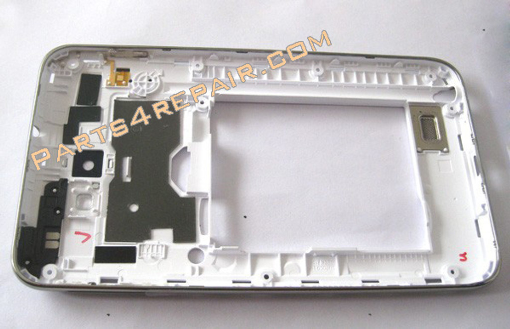 Samsung Galaxy Note N7000 Middle Housing Cover with Side Keys -White
