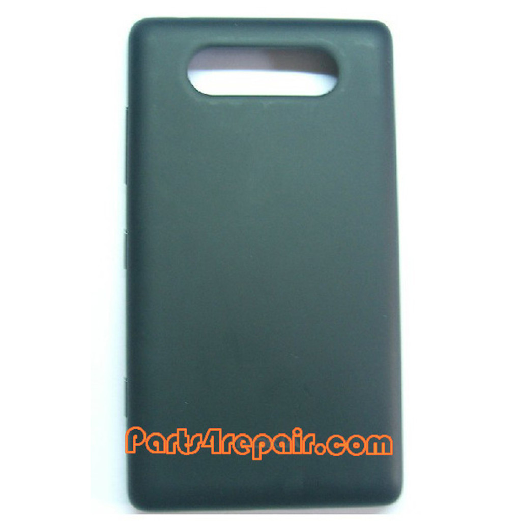 Back Cover for Nokia Lumia 820 -Black from www.parts4repair.com