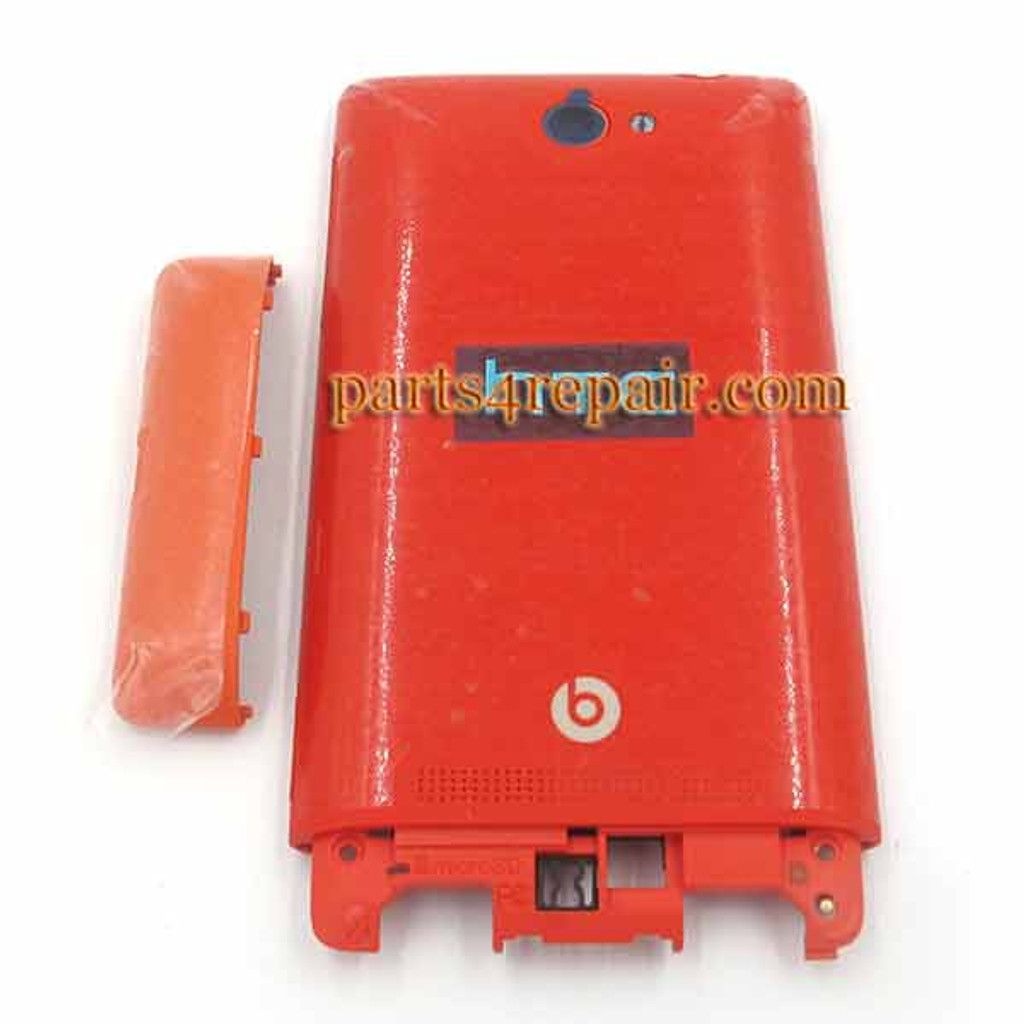 Battery Door Cover for HTC Windows Phone 8S -Red