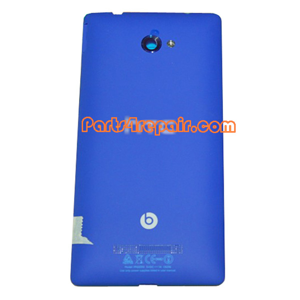 Back Cover for HTC Windows Phone 8X -Blue from www.parts4repair.com