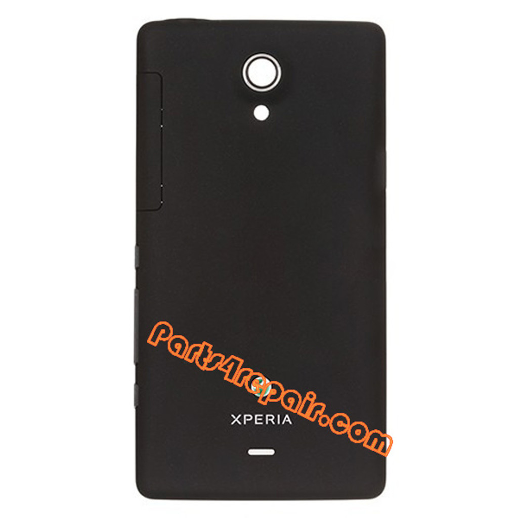 Back Cover for Sony Xperia T LT30p -Black from www.parts4repair.com