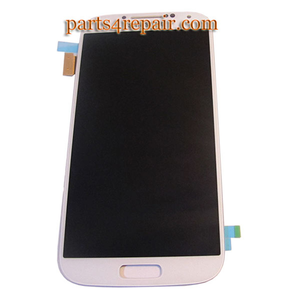Complete Screen Assembly for Samsung I9500 Galaxy S4 -White
