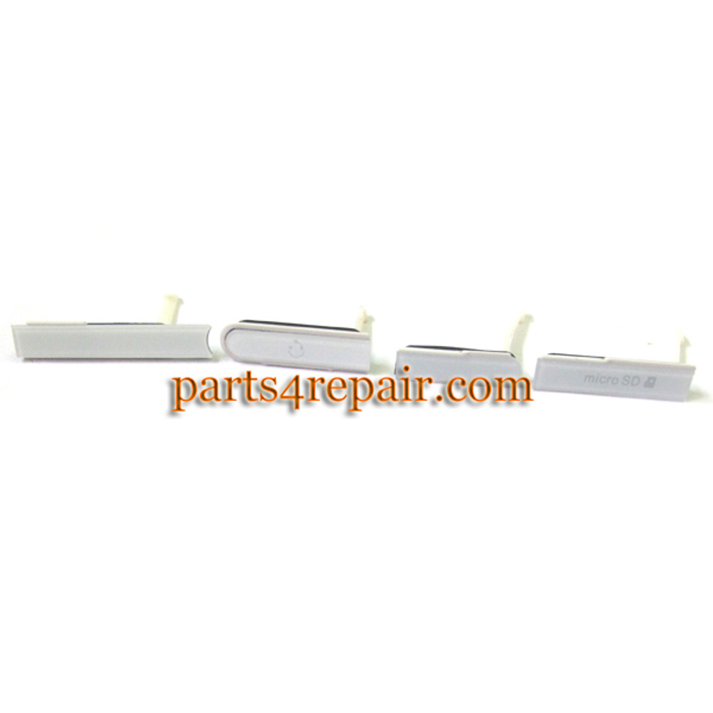 SIM Cap Set for Sony Xperia Z L36H -White from www.parts4repair.com