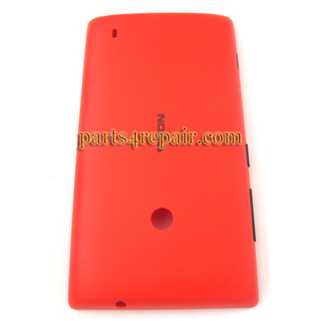 Back Cover for Nokia Lumia 520 -Red from www.parts4repair.com