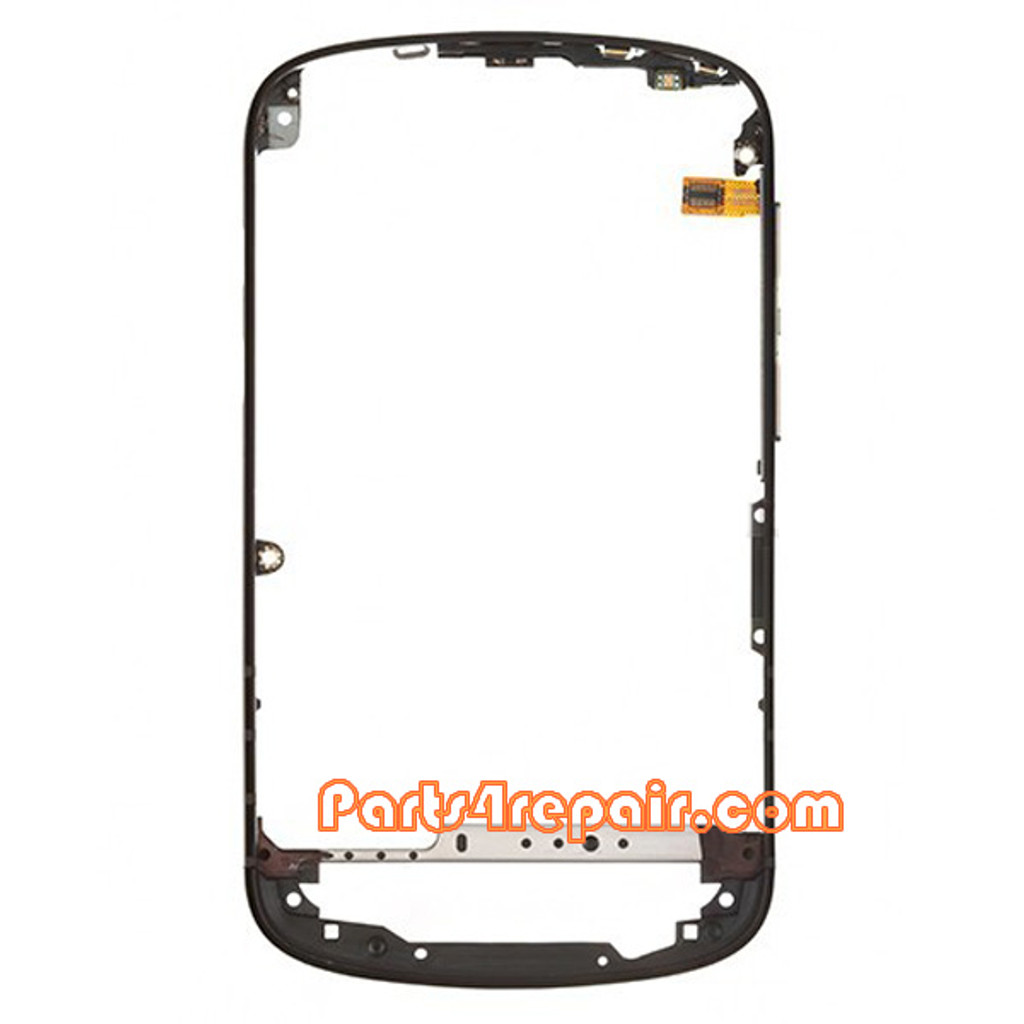 Middle Bezel for BlackBerry Q10 -Black from www.parts4repair.com