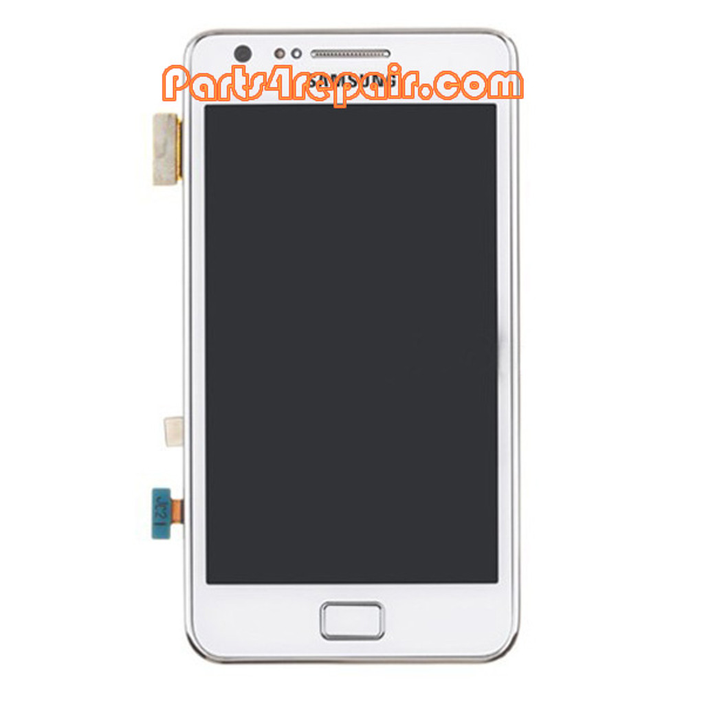 Complete Screen Assembly with Bezel for Samsung I9105 Galaxy S II Plus -White
