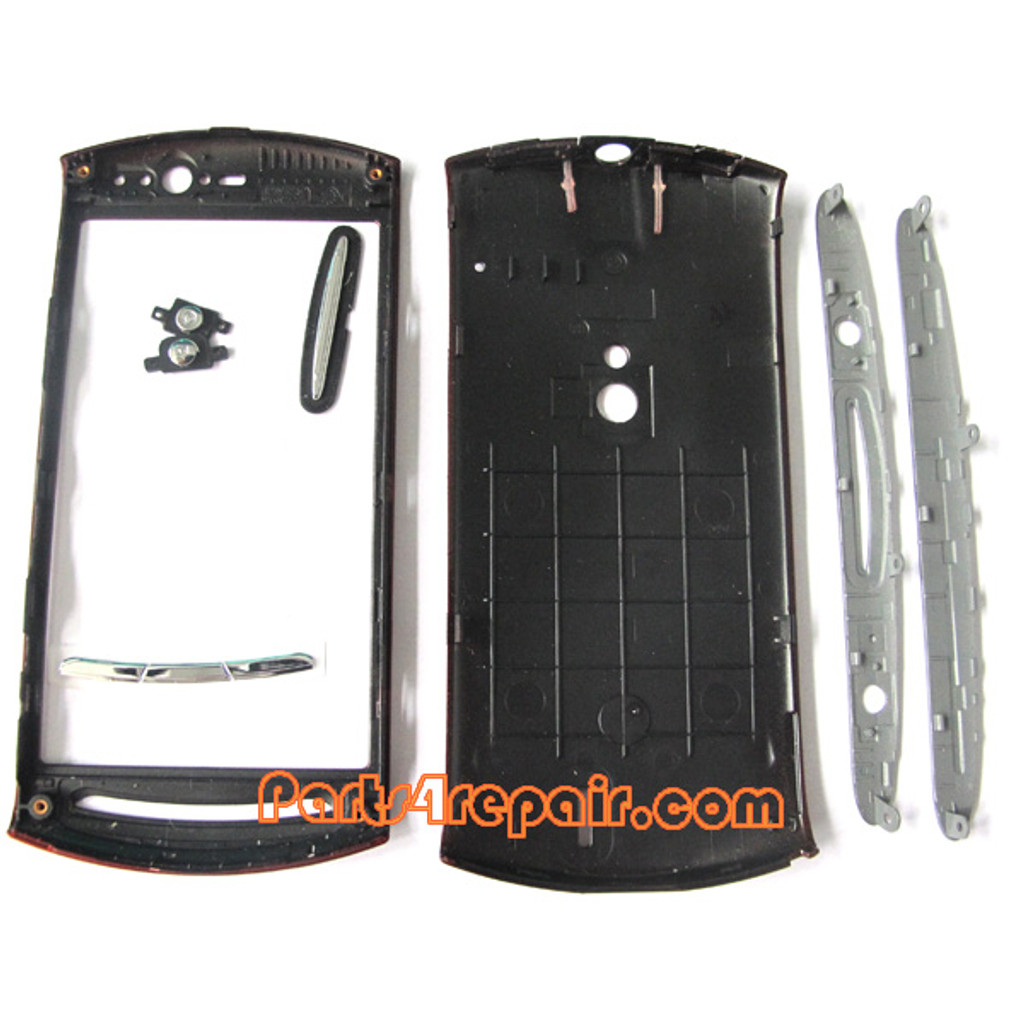 Full Housing Cover for Sony Ericsson Xperia Neo V -Red