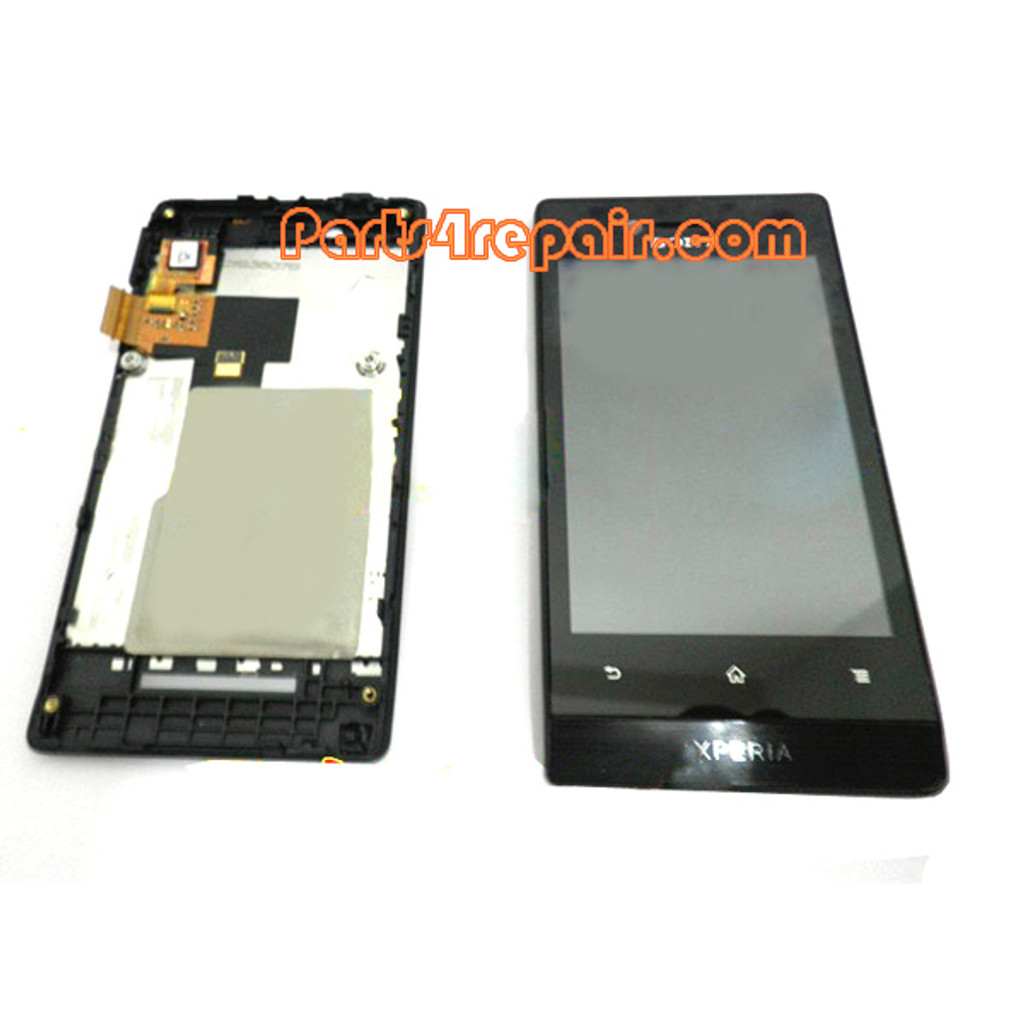 Complete Screen Assembly with Bezel for Sony Xperia miro ST23I