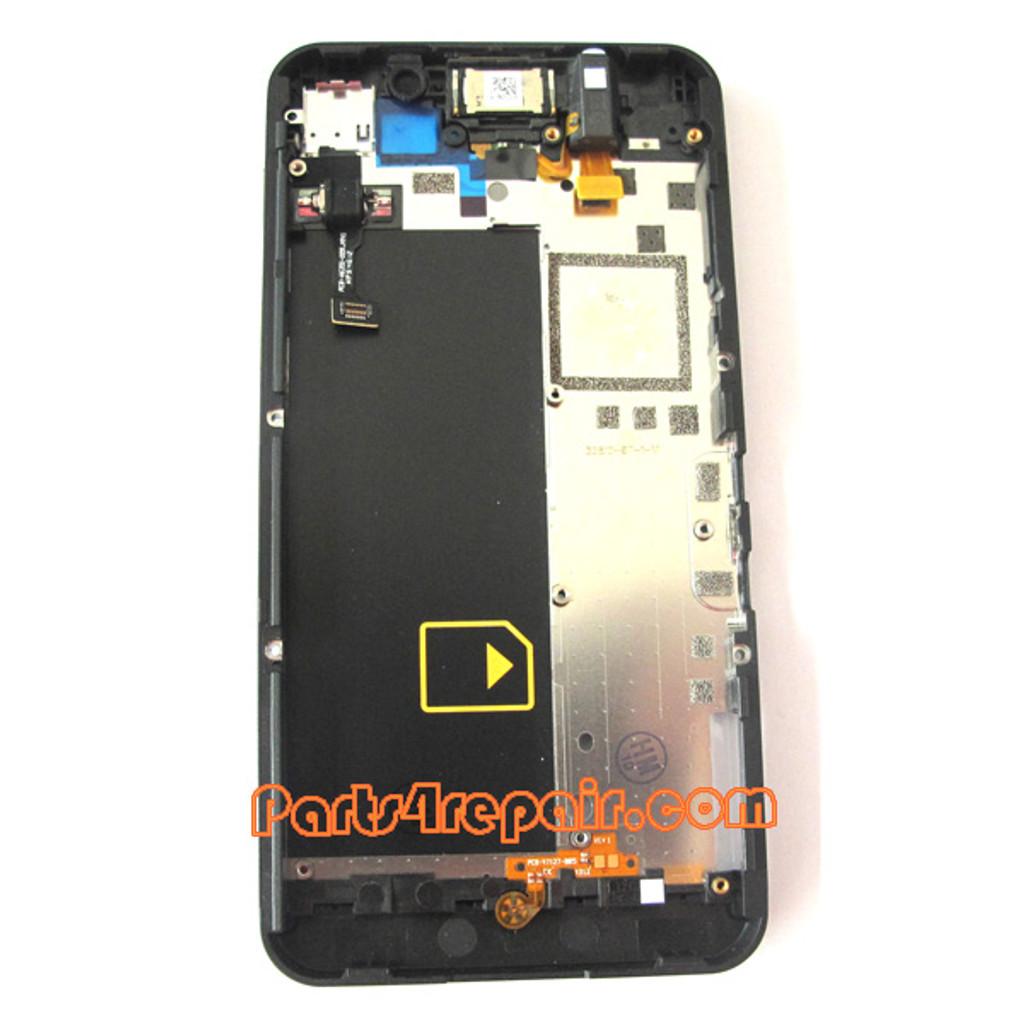 Middle Plate for BlackBerry Z10 4G -Black