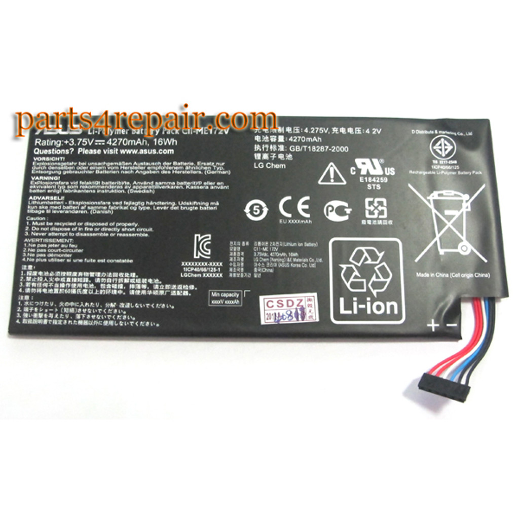 Built-in Battery for Asus Memo Pad ME172V from www.parts4repair.com