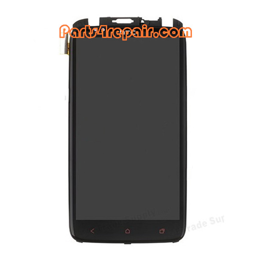 Complete Screen Assembly with Bezel for HTC One X + from www.parts4repair.com