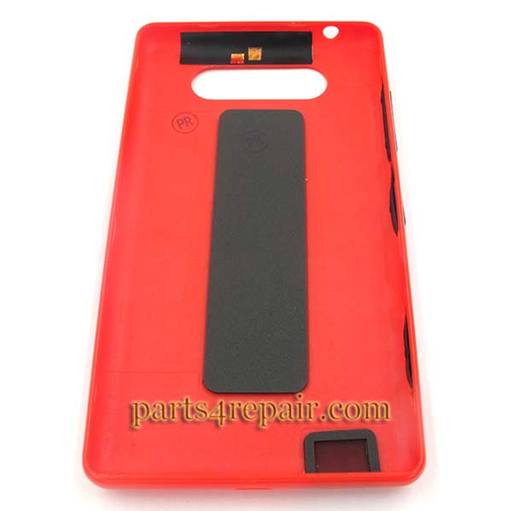 Back Cover without NFC for Nokia Lumia 820 -Red