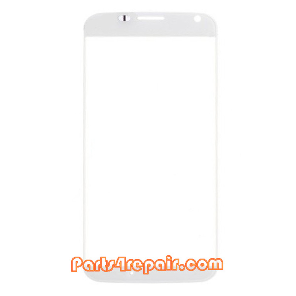 Front Glass Lens for Motorola Moto X XT1058 -White from www.parts4repair.com