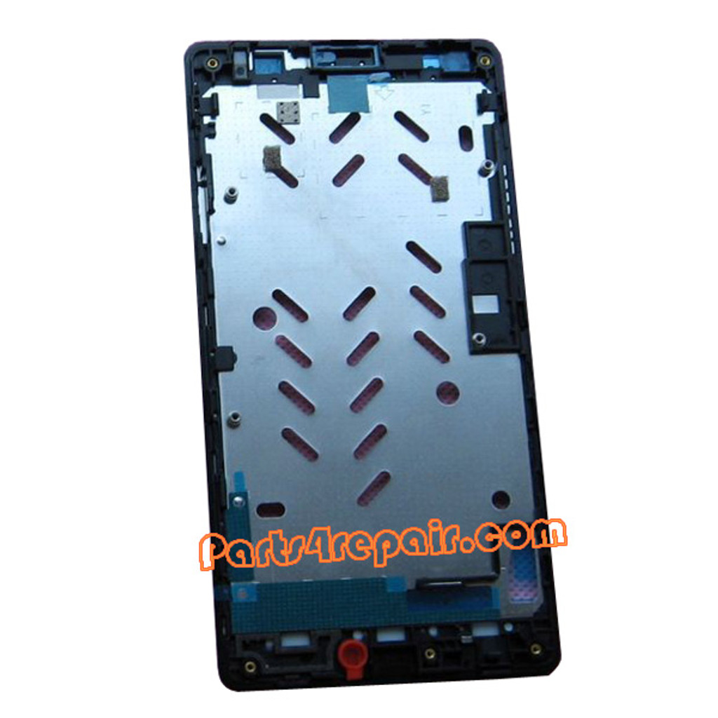 Front Housing Cover for Huawei Ascend G700 -Black from www.parts4repair.com