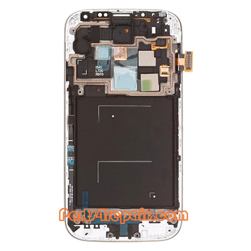 Complete Screen Assembly with Bezel for Samsung Galaxy S4 CDMA I545 -Black