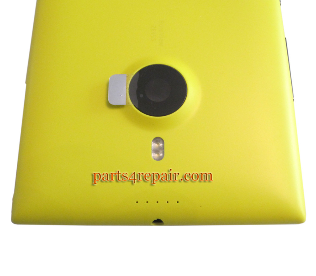 Back Housing Assembly Cover with Wireless Charging Coil for Nokia Lumia 1520 -Yellow
