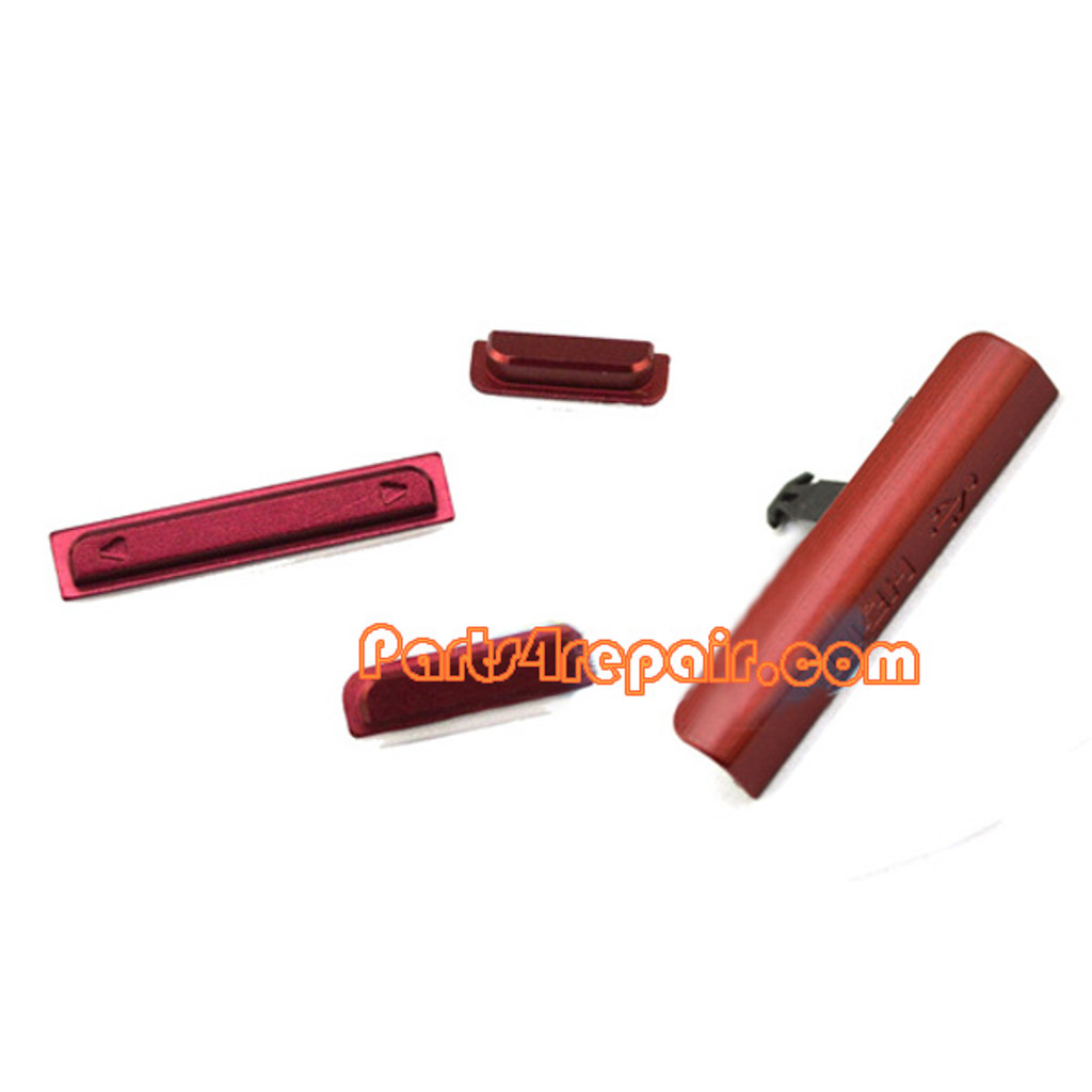 Sony Xperia ion LTE LT28 Side Keys -Red from www.parts4repair.com
