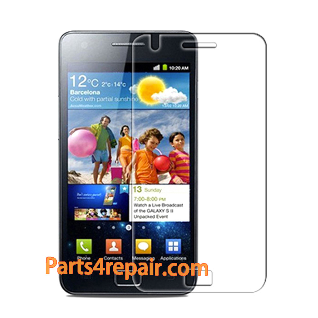 Clear Screen Protector Shield Film for Samsung Galaxy S 2 I9100 from www.parts4repair.com