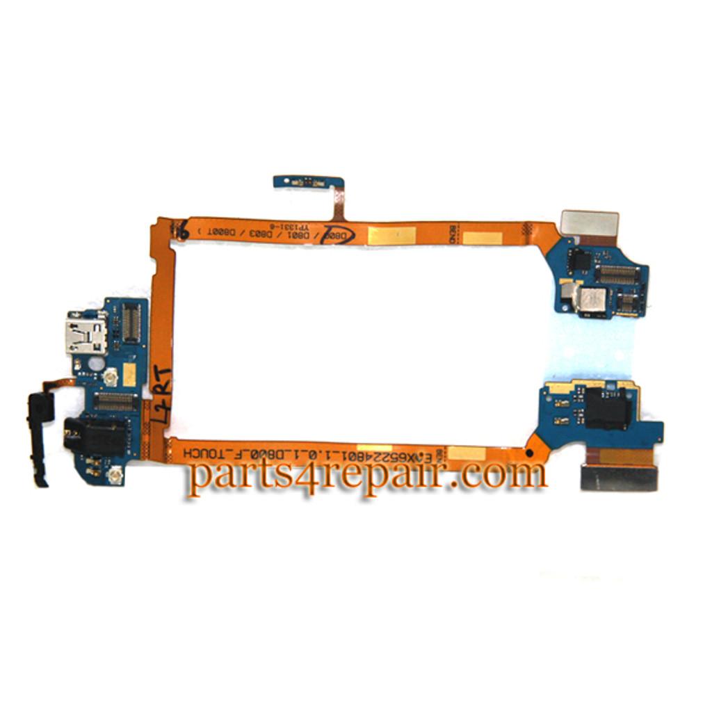 Dock Charging Flex Cable for LG G2 D800 D801 D803 from www.parts4repair.com