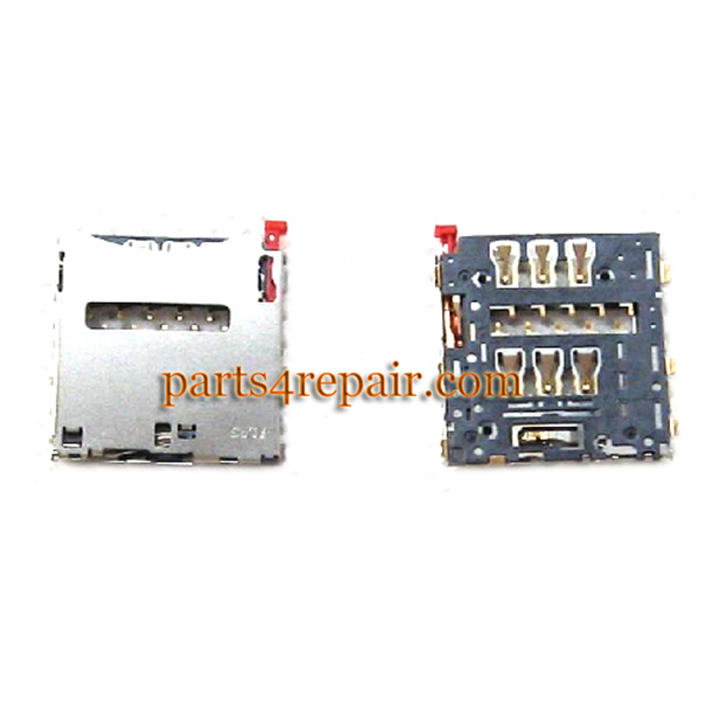SIM Contact Holder for Sony Xperia T2 Ultra xm50h from www.parts4repair.com