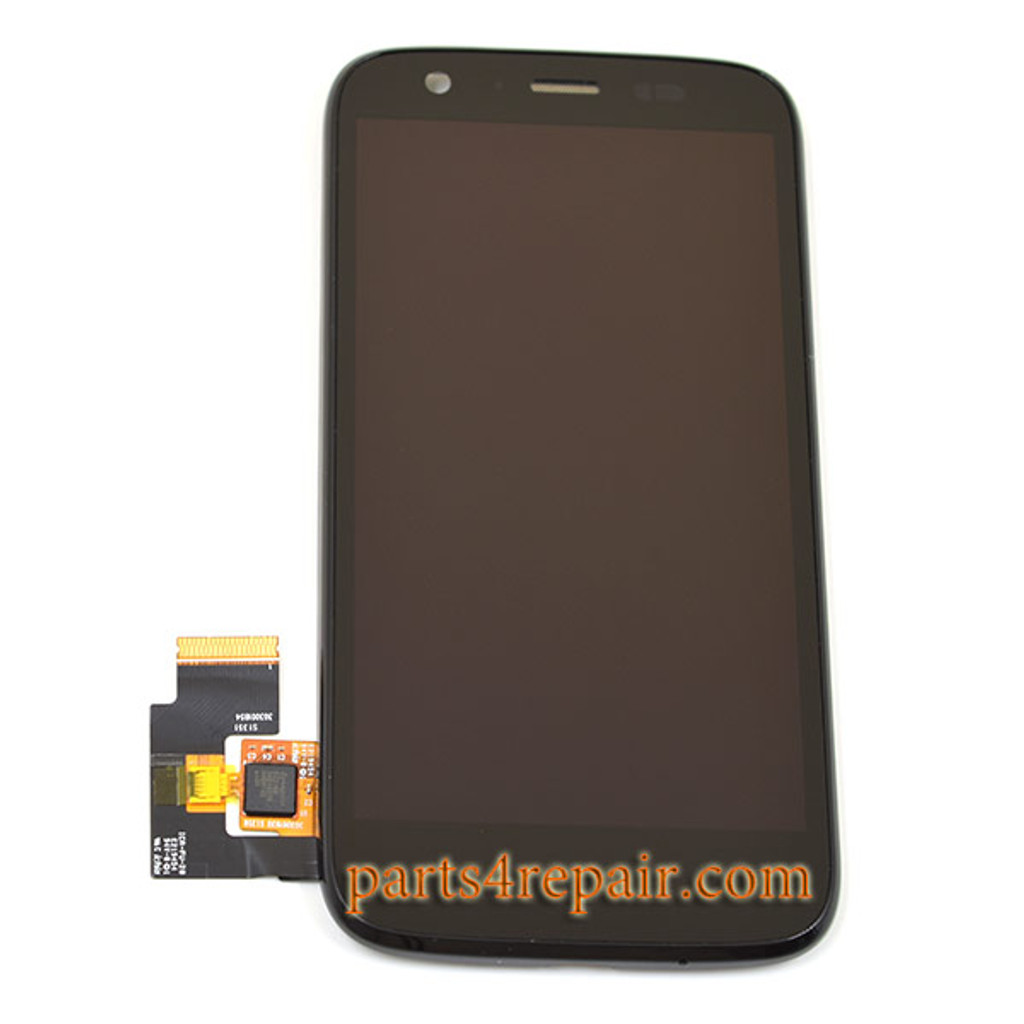 Complete Screen Assembly with Bezel for Motorola Moto G XT1032 from www.parts4repair.com