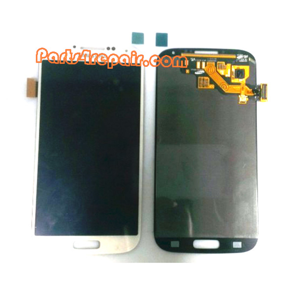 Generic Complete Screen Assembly for Samsung I9500 Galaxy S4 -White