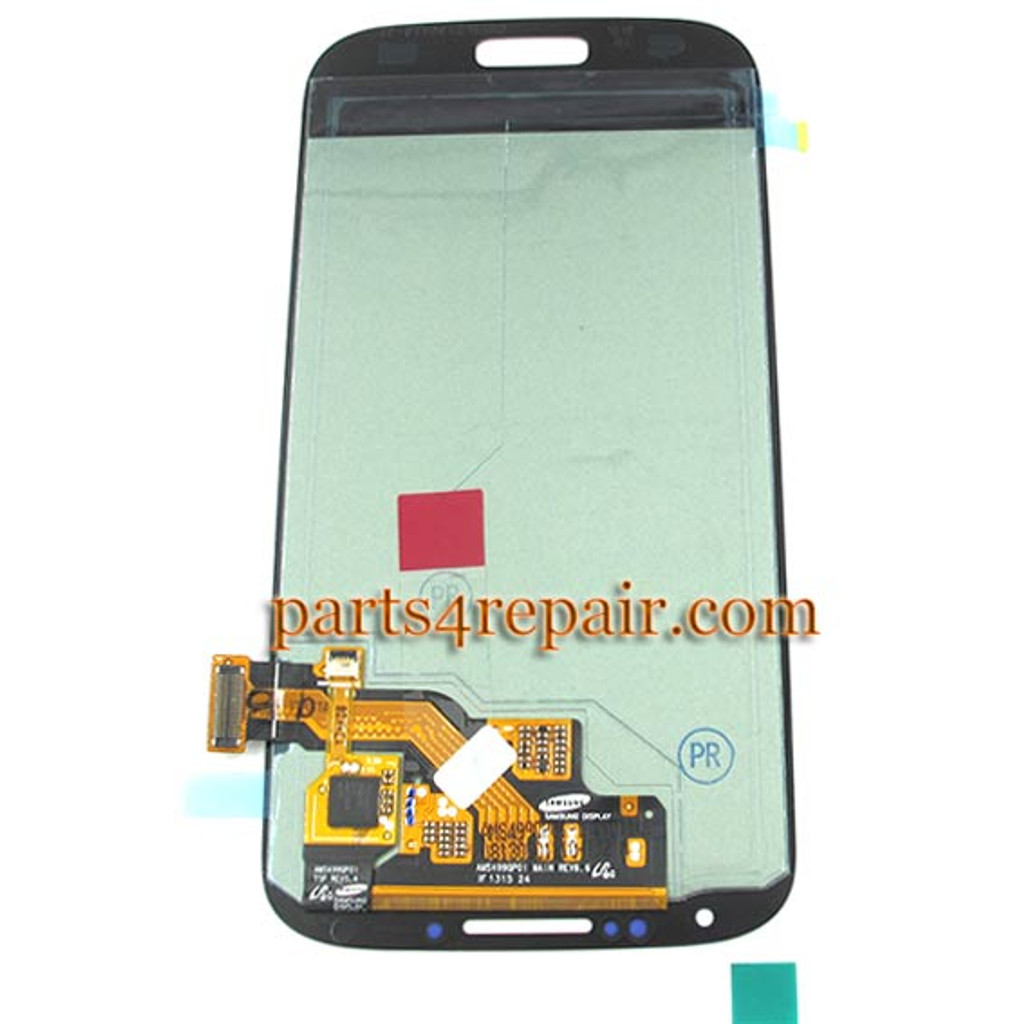 Generic Complete Screen Assembly for Samsung I9500 Galaxy S4 -Blue