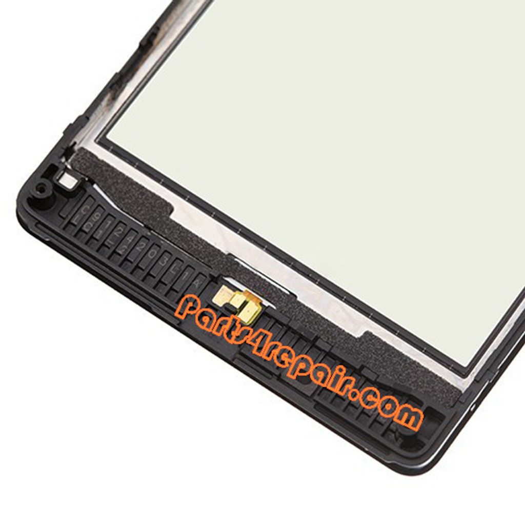 Touch Screen with Bezel for Nokia Lumia 820 (Refurbished)