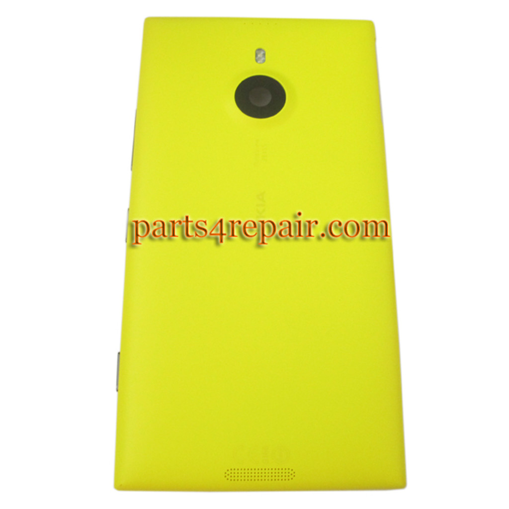 Back Housing Assembly Cover Generic with Wireless Charging Coil for Nokia Lumia 1520 -Yellow