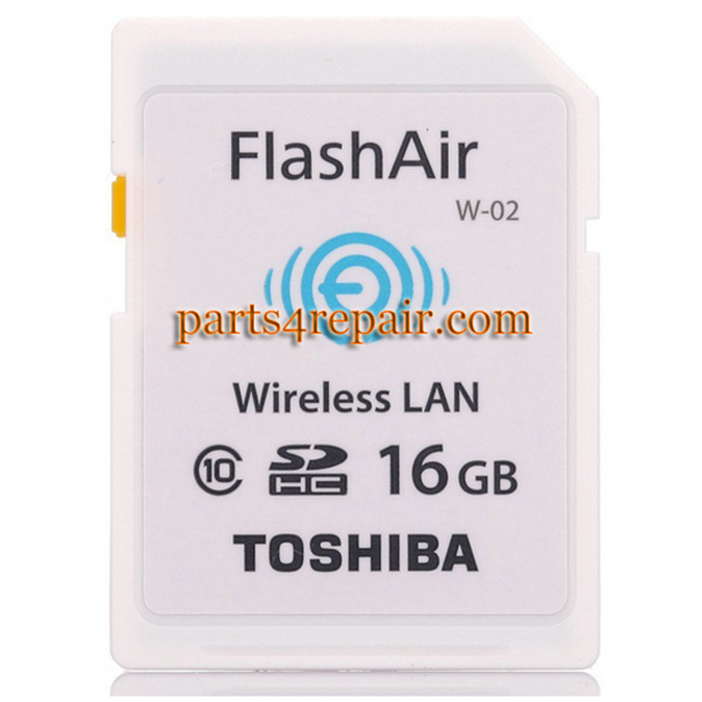 Toshiba FlashAir WIFI WIRELESS SDHC 16GB Class 10 Flash Memory