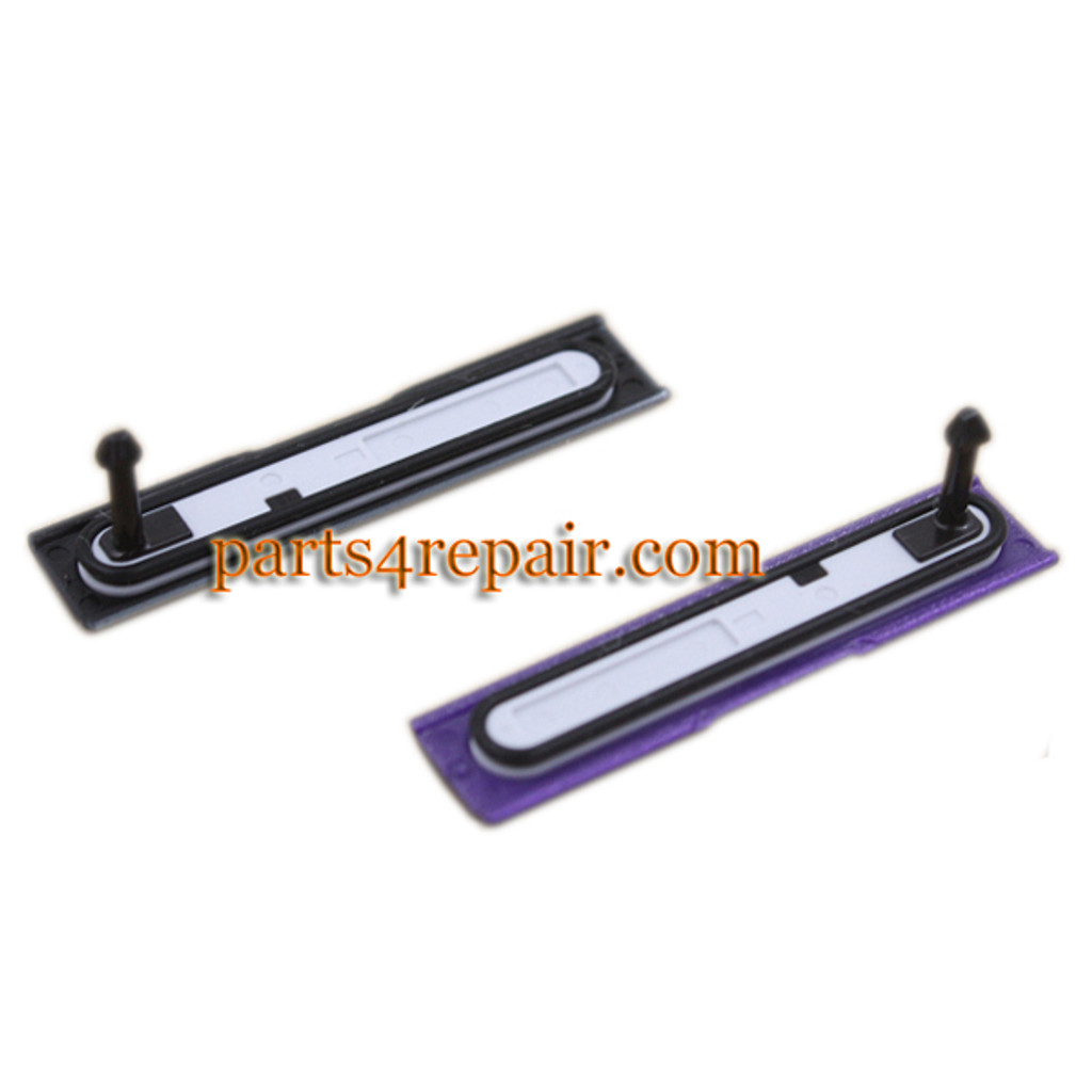 SD Cover & USB Cover for Sony Xperia Z1S L39T -Purple (for T-Mobile)