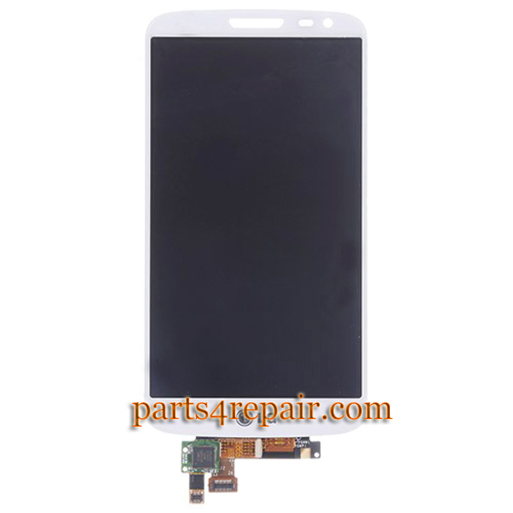 Complete Screen Assembly for LG G2 mni D620 -White from www.parts4repair.com