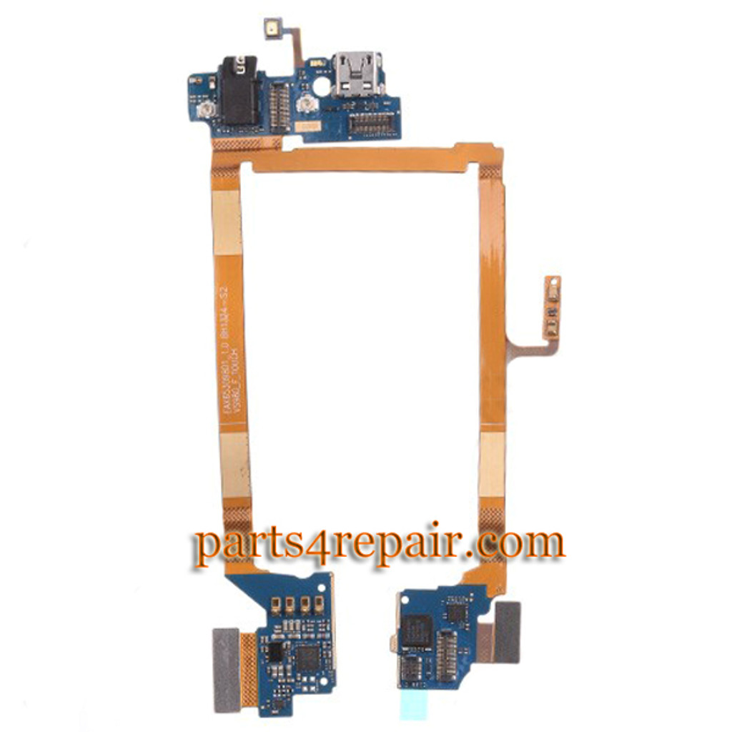 Dock Charging Flex Cable for LG G2 VS980 (for Verizon) -Used