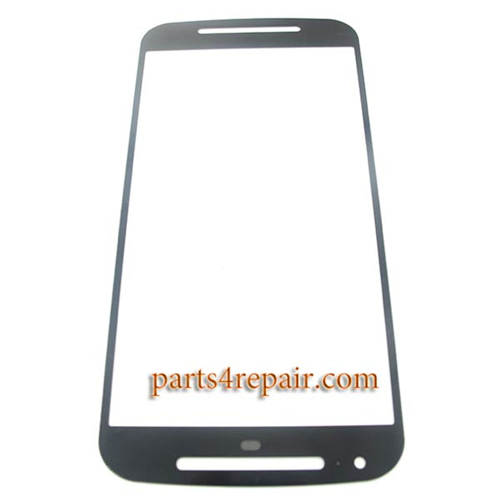 Front Glass OEM for Motorola Moto G2 -Black from www.parts4repair.com