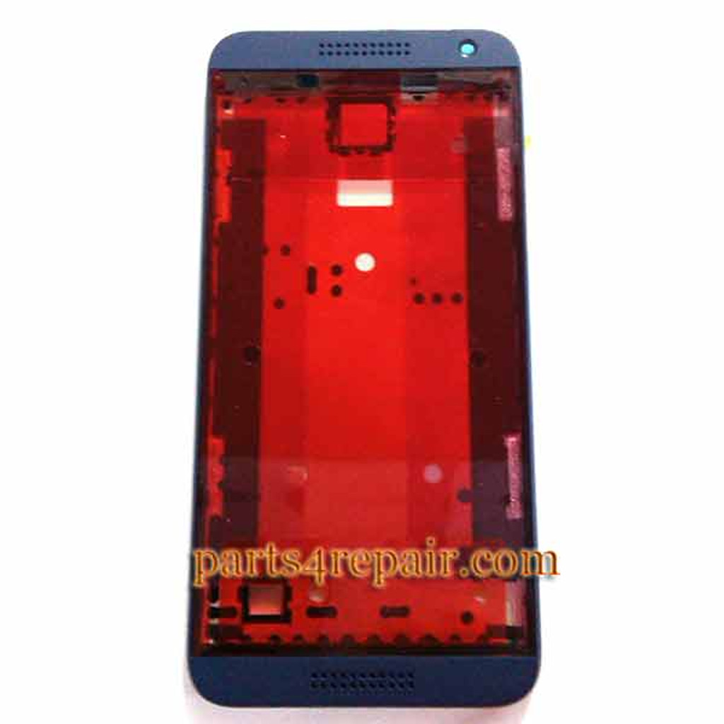 Front Housing Cover with Side Keys for HTC Desire 610 -Blue from www.parts4repair.com