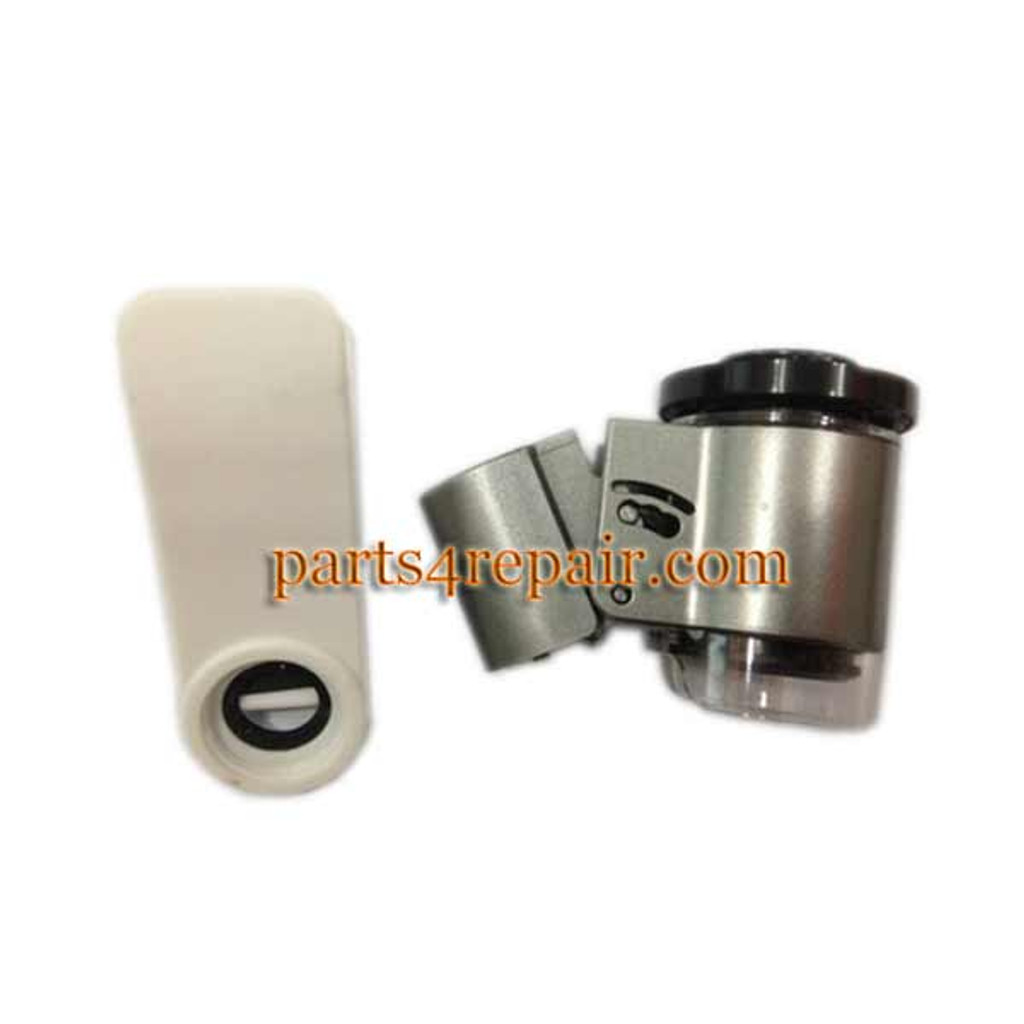 Clip-On 60X Zoom Magnify Microscope Lens with LED & UV Light for iPhone 6 6 Plus 5S S5 Note4 Note3 HTC Smartphones