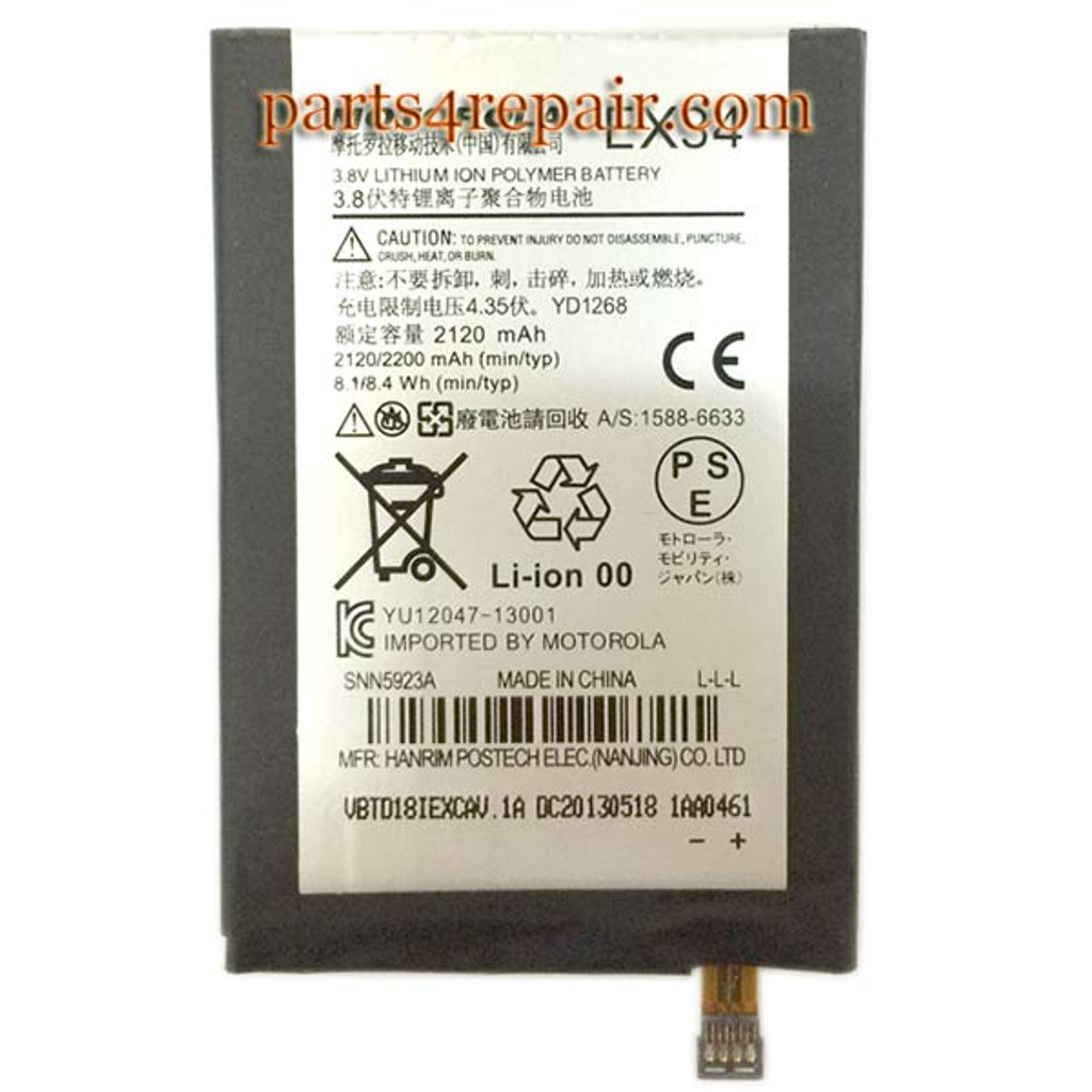 Built-in Battery EX34 for Motorola Moto X XT1058 XT1060 from www.parts4repair.com