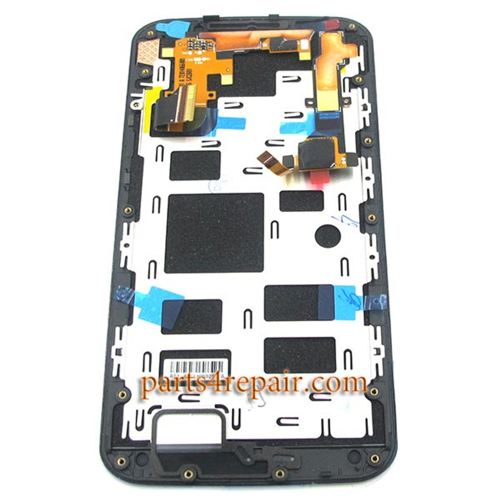 Complete Screen Assembly with Bezel for Motorola Moto X2 XT1097 (for AT&T) -Black