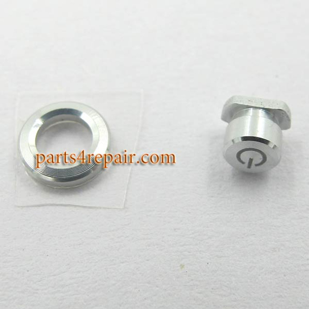 Power Button & Power Key Ring for Sony Xperia Z1 L39H -Silver