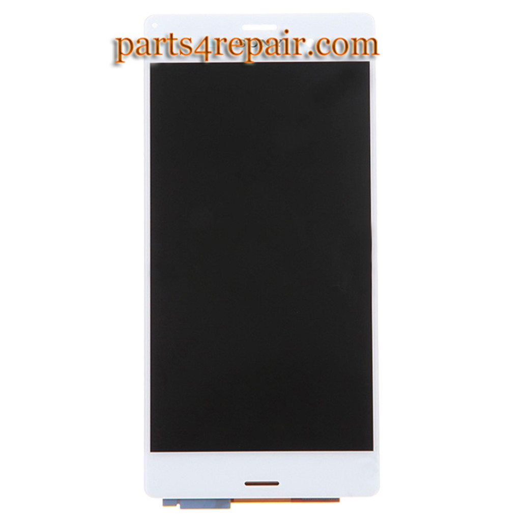 Complete Screen Assembly for Sony Xperia Z3 -White (Refurbished)