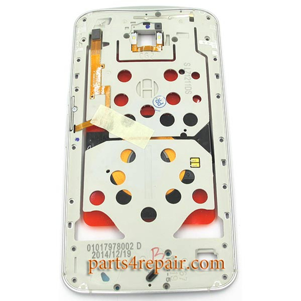 Middle Plate for Motorola Nexus 6 -White from www.parts4repair.com