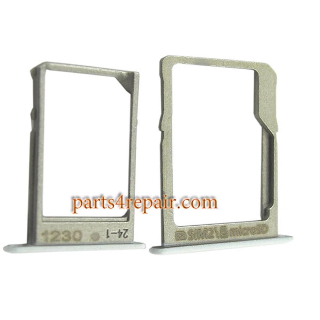 SIM Tray and MicroSD Tray for Samsung Galaxy A5 A7 -White
