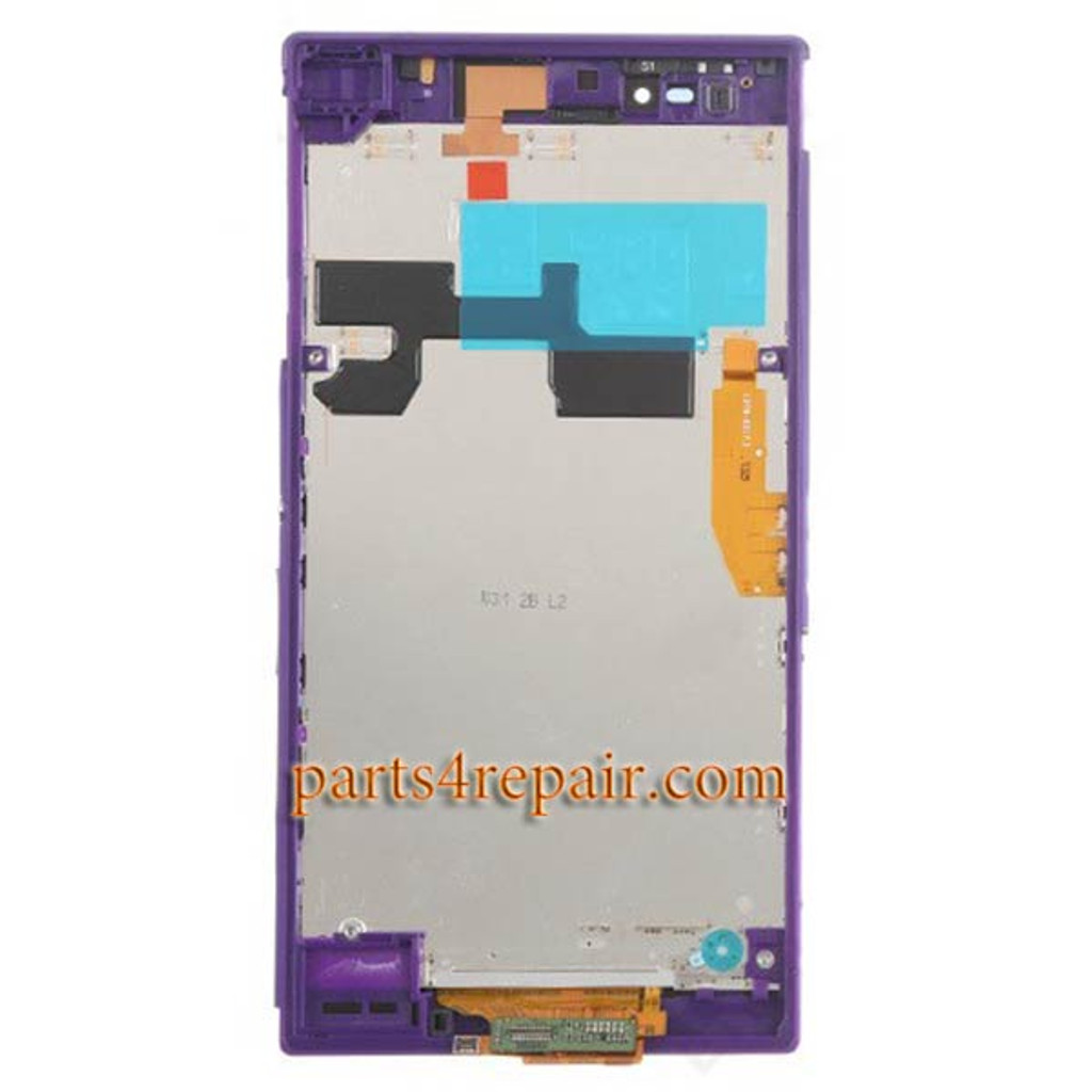 Complete Screen Assembly with Bezel for Sony Xperia Z Ultra XL39H (Used) -Purple