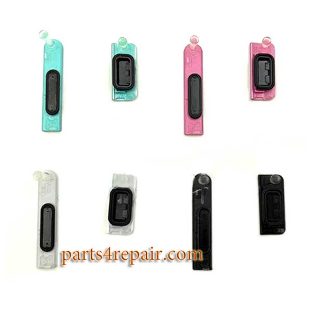 USB Cover and Earphone Cover for Sony Xperia ZR M36H -Black