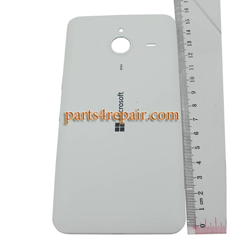 Back Cover with Side Keys for Microsoft Lumia 640 XL (Matte Surface) -White