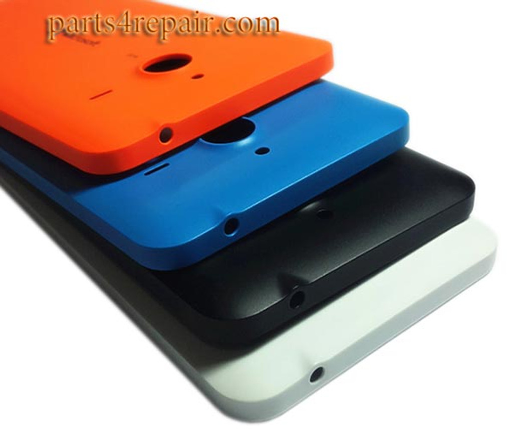 Back Cover with Side Keys for Microsoft Lumia 640 XL (Matte Surface) -Orange