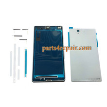 Generic Full Housing Cover for Sony Xperia Z L36H -White